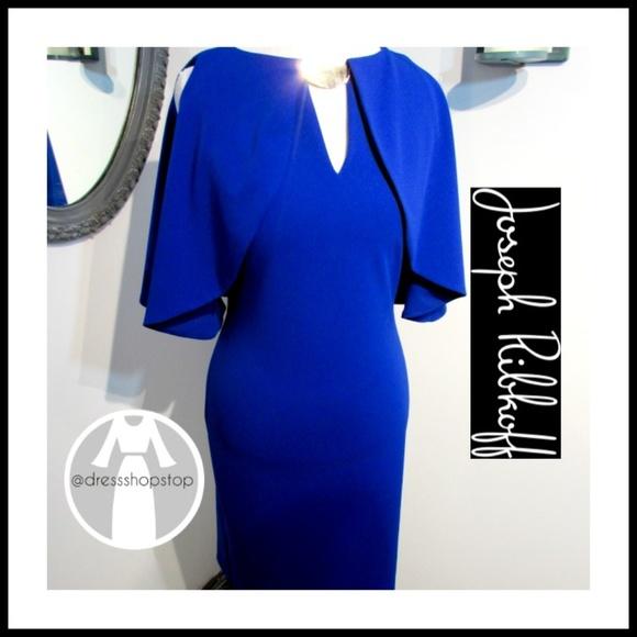 Joseph Ribkoff Dresses | Royal Blue Dress Cold Shoulder | Poshmark